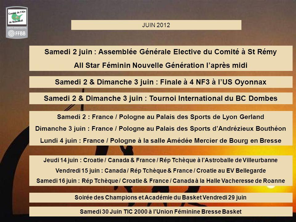 Samedi 2 juin : Assemblée Générale Elective du Comité à St Rémy