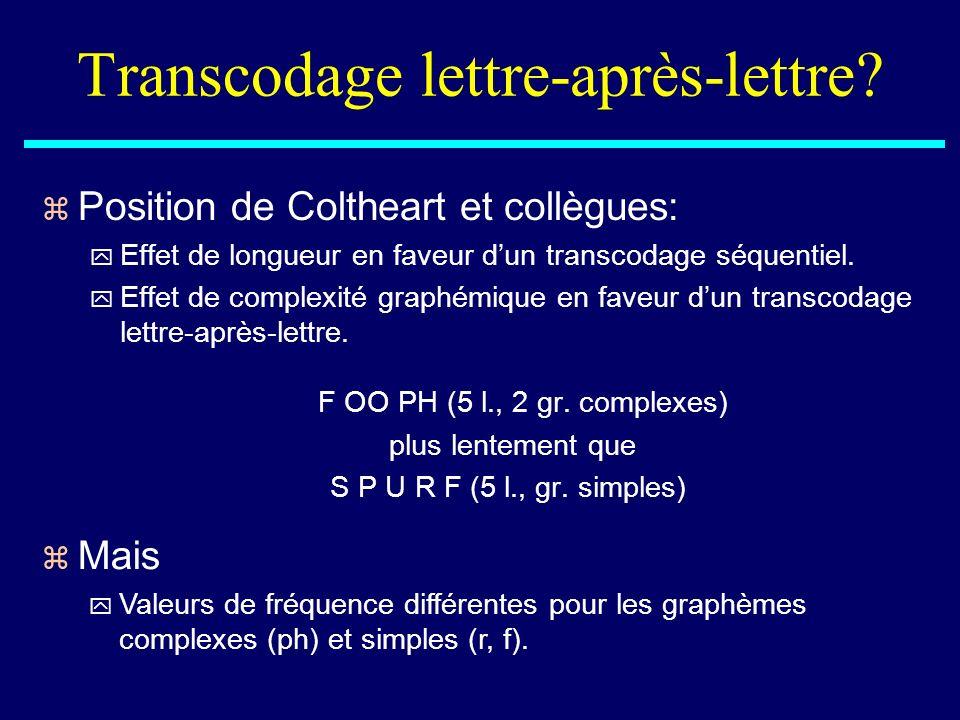 Transcodage lettre-après-lettre