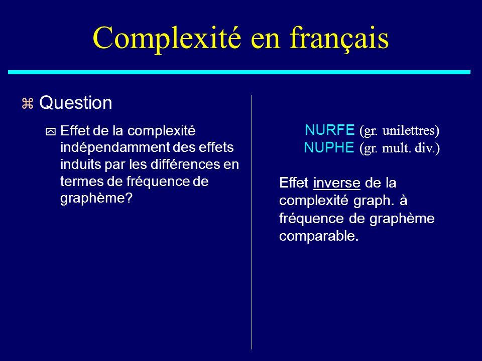 Complexité en français