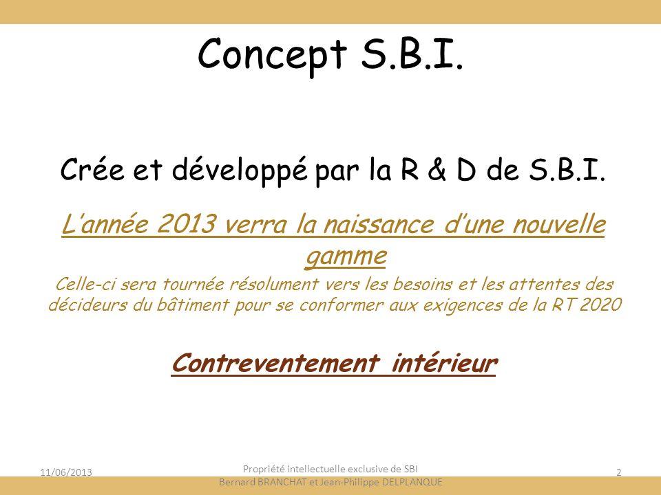 Concept S.B.I. Crée et développé par la R & D de S.B.I.