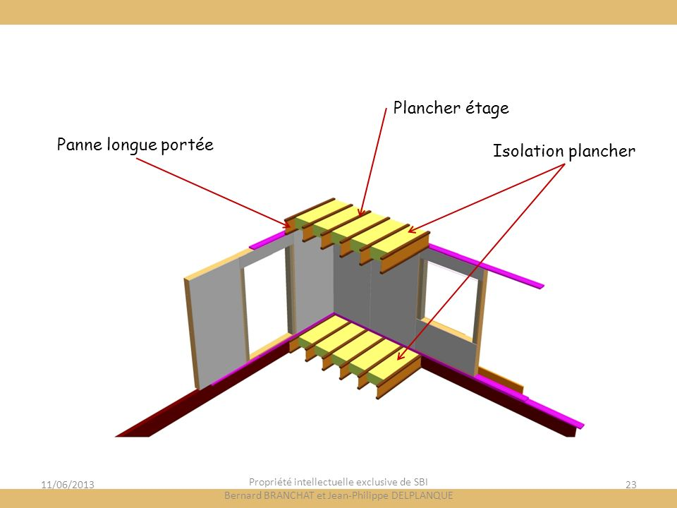 Plancher étage Panne longue portée Isolation plancher 11/06/2013