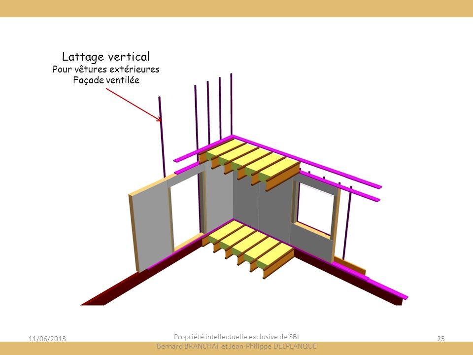 Lattage vertical Pour vêtures extérieures Façade ventilée 11/06/2013