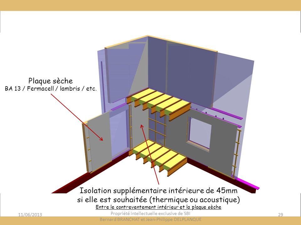 Isolation supplémentaire intérieure de 45mm