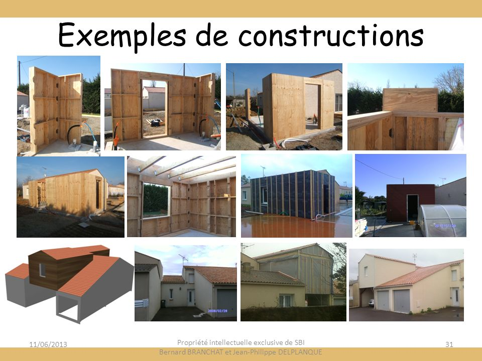 Exemples de constructions