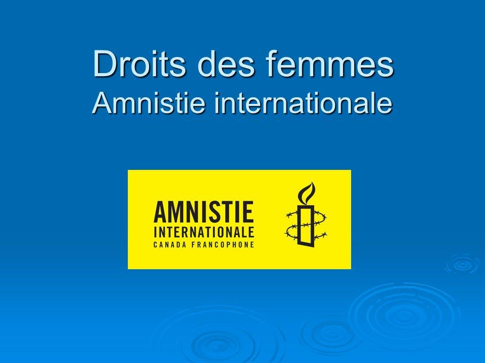 Droits des femmes Amnistie internationale