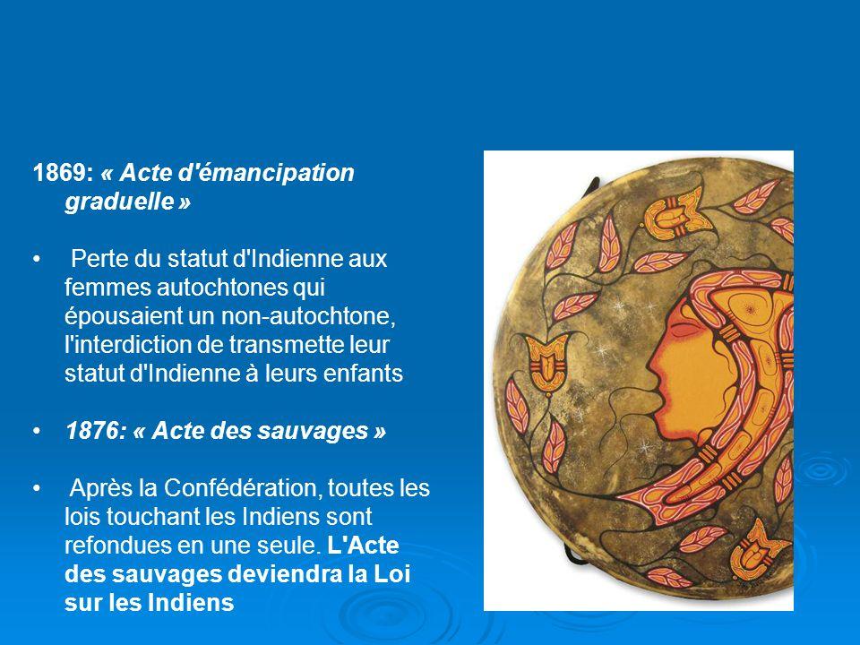 1869: « Acte d émancipation graduelle »