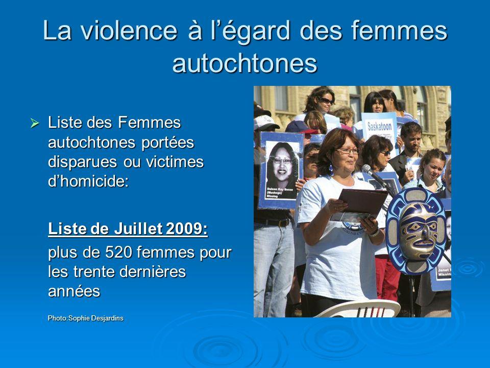 La violence à l'égard des femmes autochtones