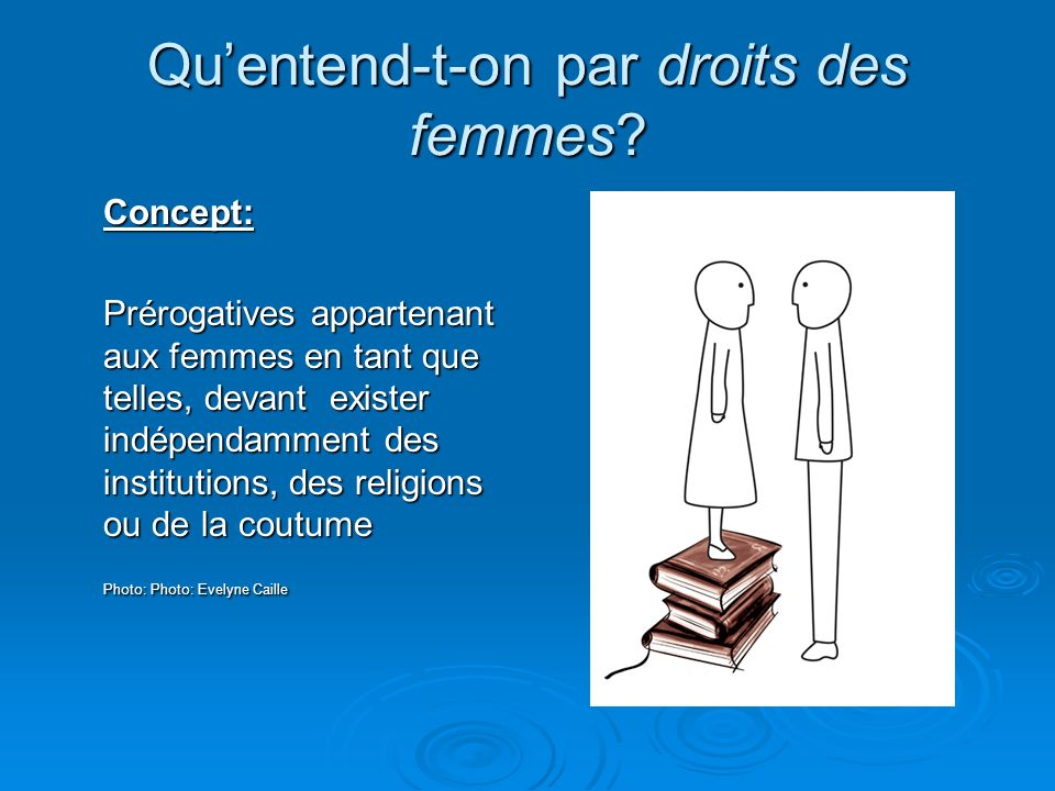 Qu'entend-t-on par droits des femmes