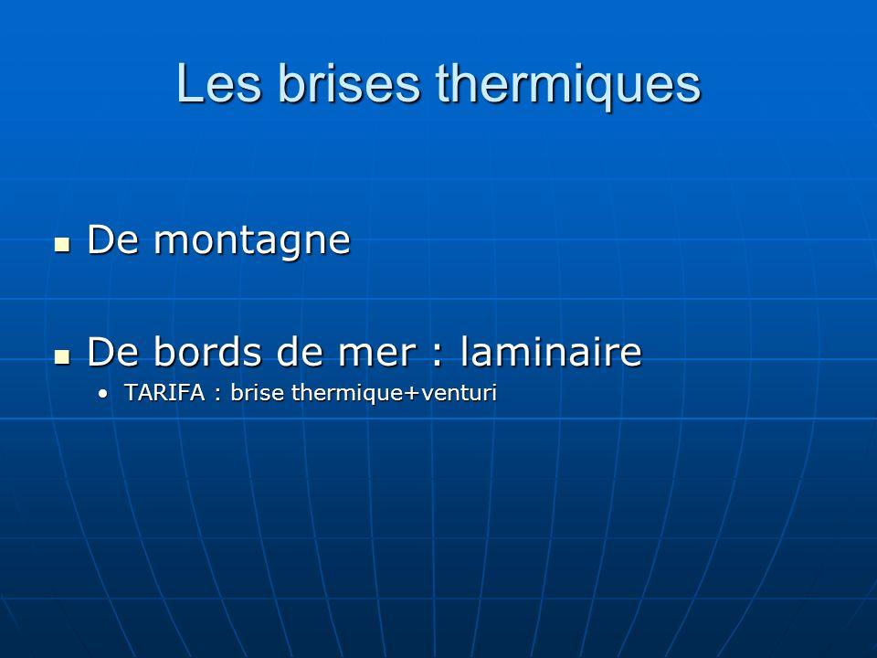 Les brises thermiques De montagne De bords de mer : laminaire