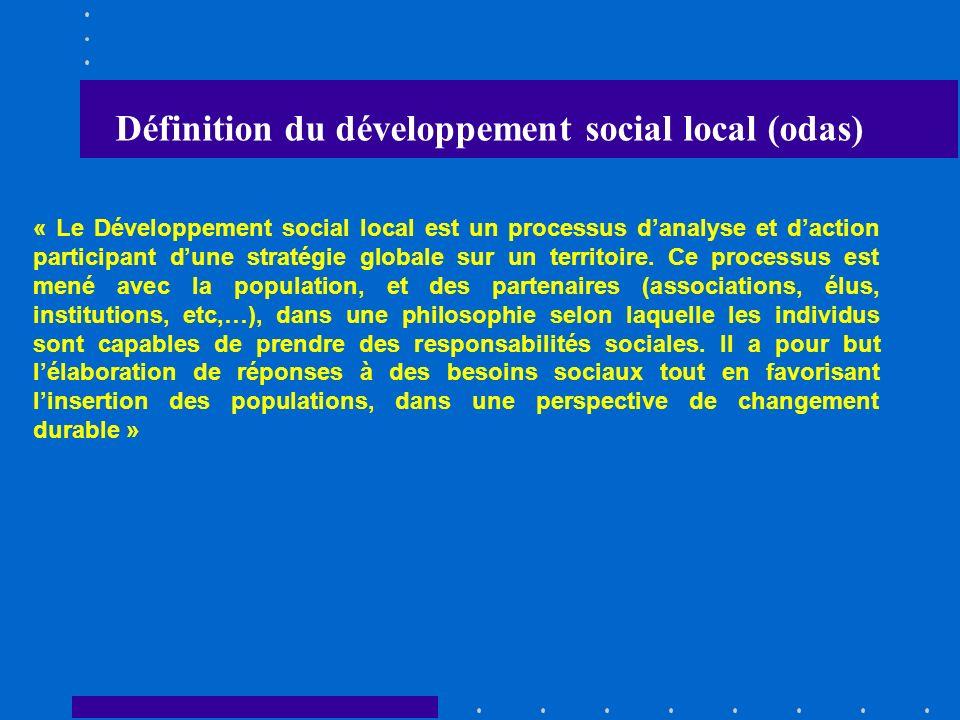 Définition du développement social local (odas)