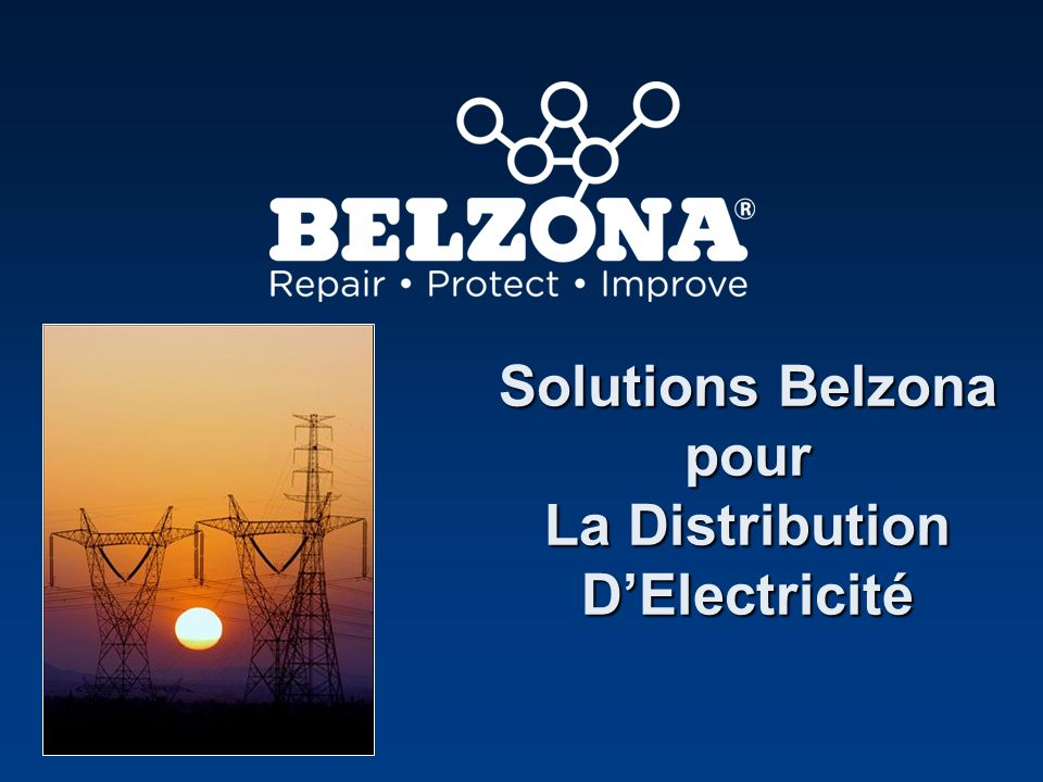 Solutions Belzona pour La Distribution D'Electricité