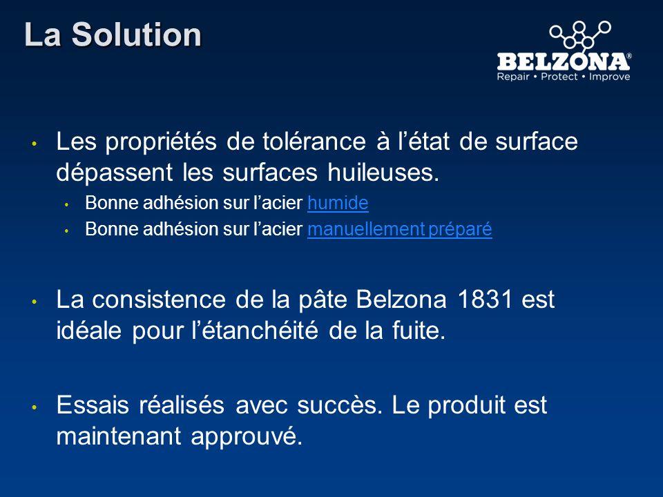 La Solution Les propriétés de tolérance à l'état de surface dépassent les surfaces huileuses. Bonne adhésion sur l'acier humide.