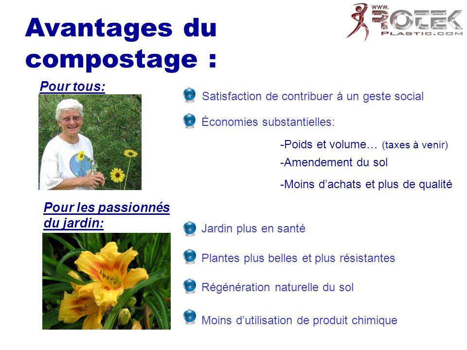 Avantages du compostage :