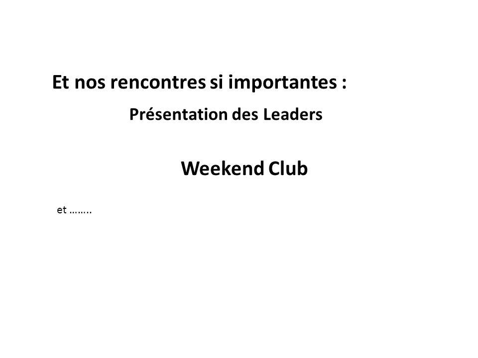 Présentation des Leaders