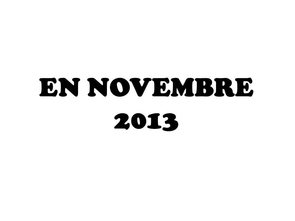 EN NOVEMBRE 2013