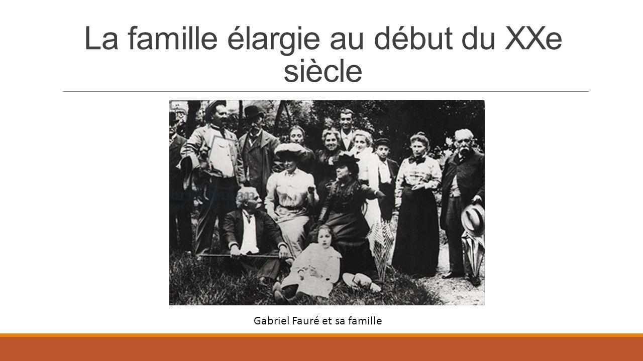 La famille élargie au début du XXe siècle