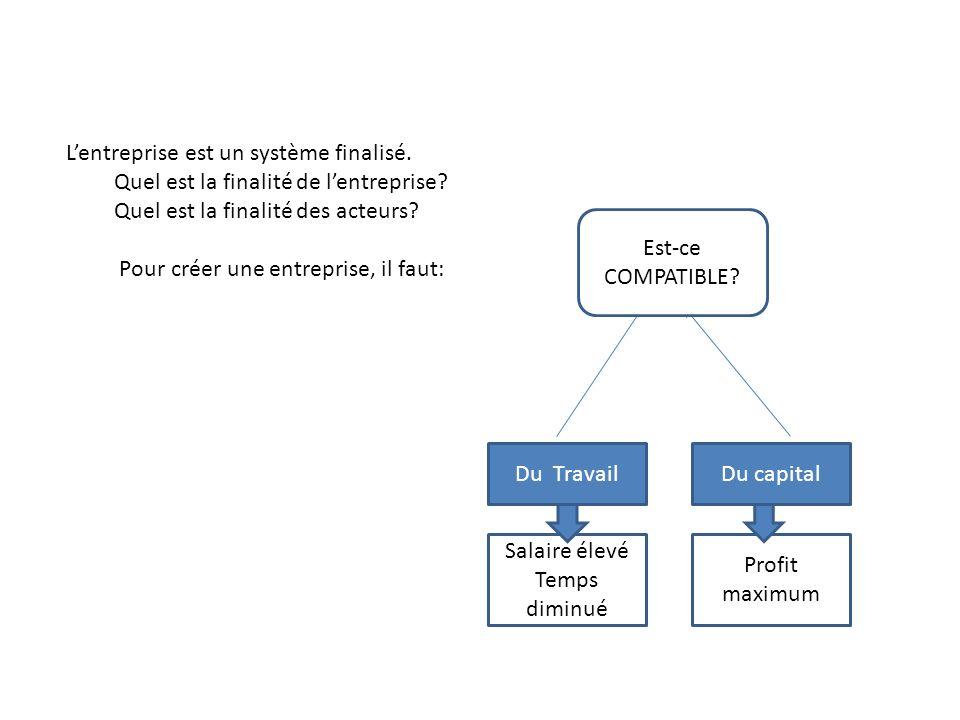 L'entreprise est un système finalisé.