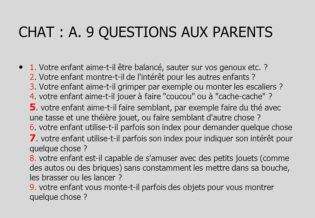 CHAT : A. 9 QUESTIONS AUX PARENTS