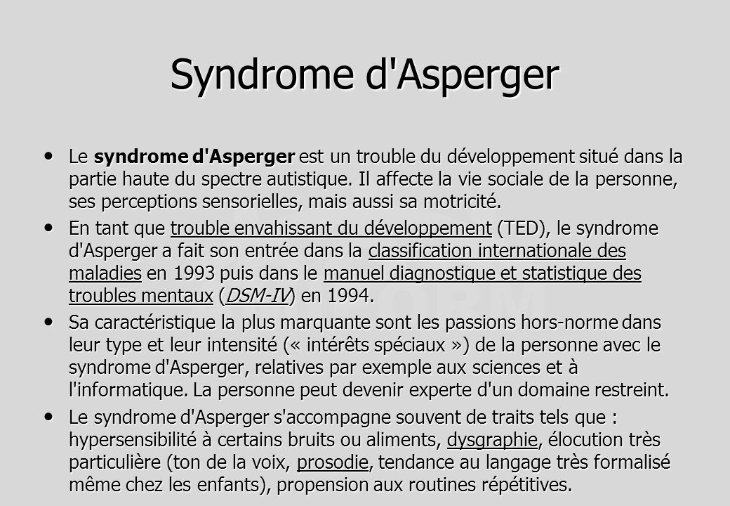 Syndrome d Asperger