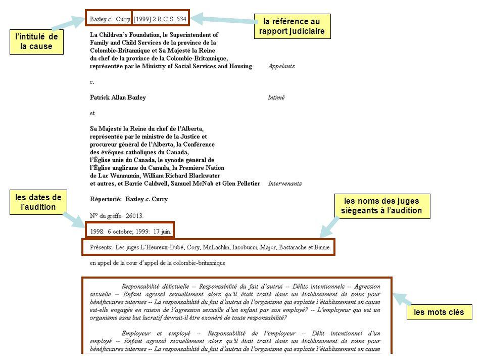 la référence au rapport judiciaire