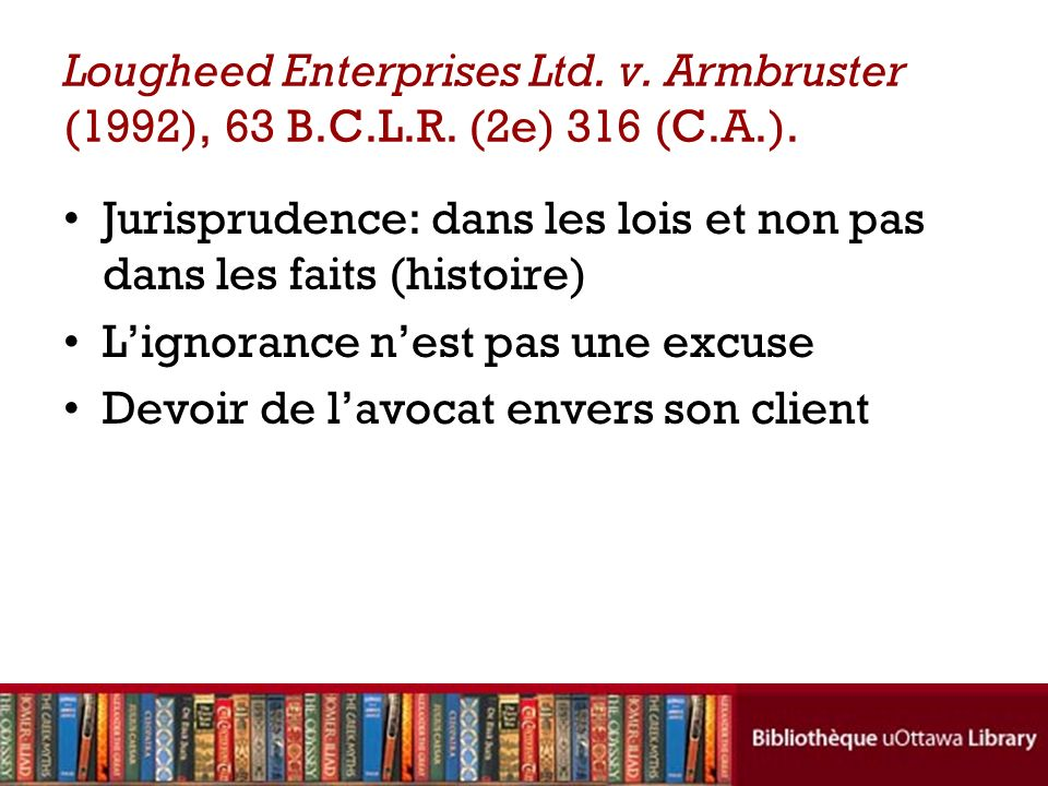 Lougheed Enterprises Ltd. v. Armbruster (1992), 63 B. C. L. R
