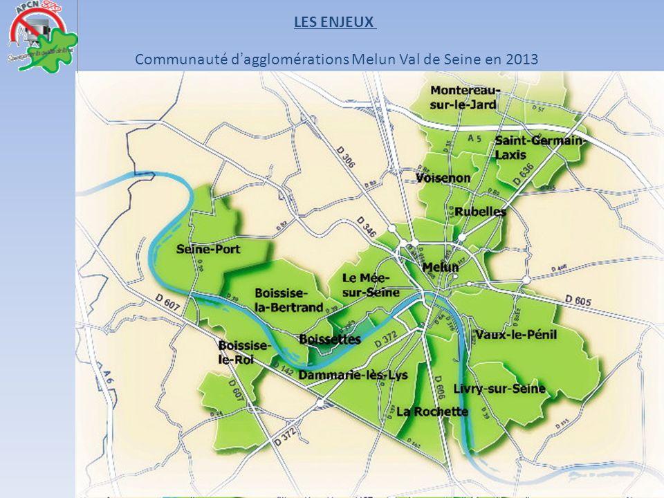 LES ENJEUX Communauté d'agglomérations Melun Val de Seine en 2013