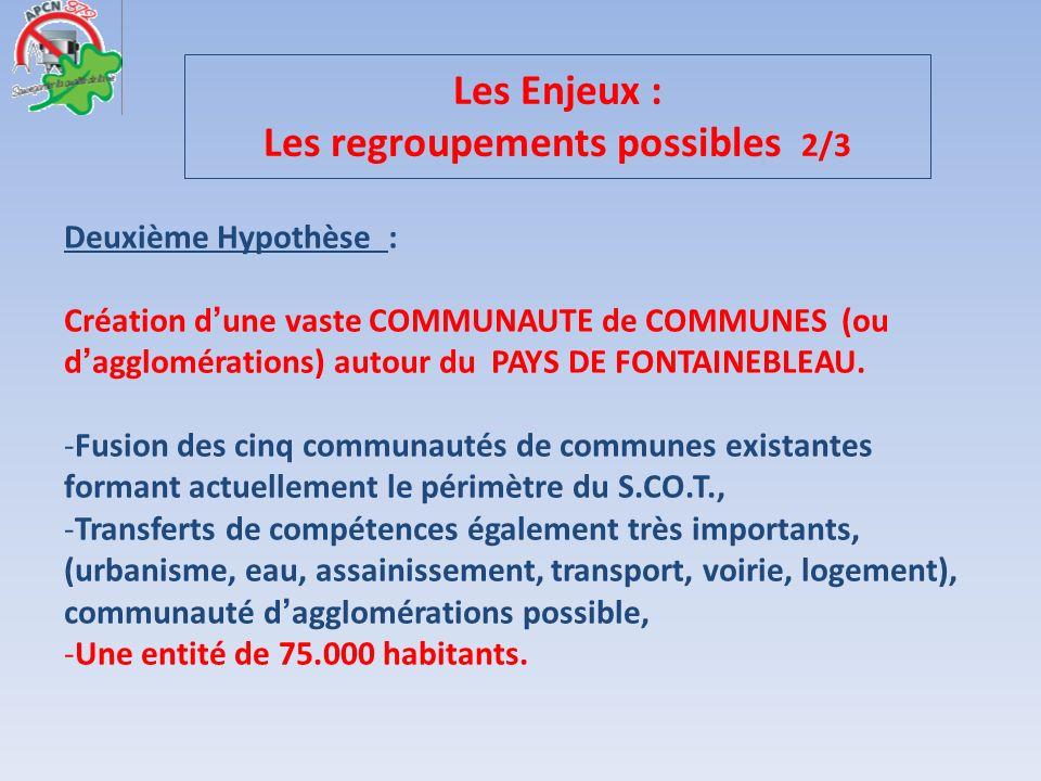 Les Enjeux : Les regroupements possibles 2/3