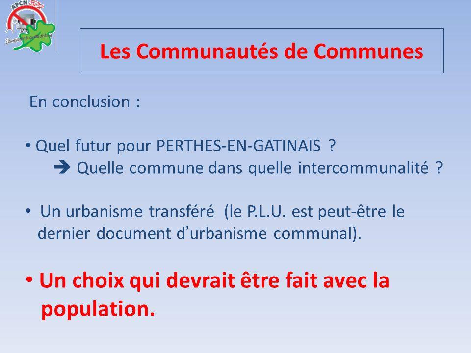 Les Communautés de Communes