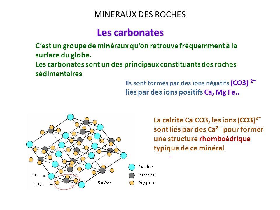 Les carbonates MINERAUX DES ROCHES