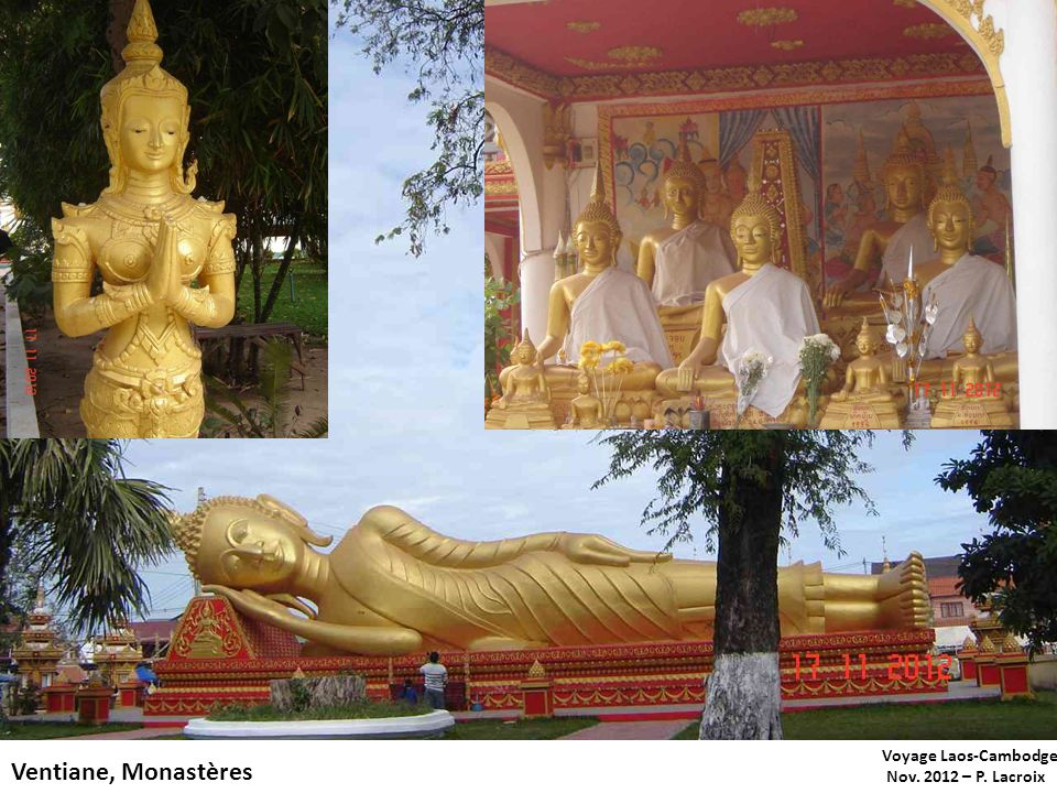 Voyage Laos-Cambodge Nov. 2012 – P. Lacroix Ventiane, Monastères