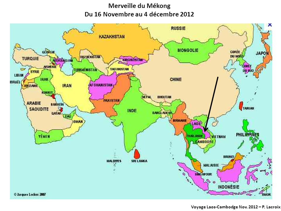 Du 16 Novembre au 4 décembre 2012