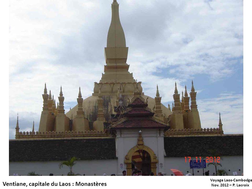 Ventiane, capitale du Laos : Monastères