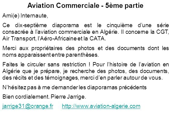 Aviation Commerciale - 5ème partie