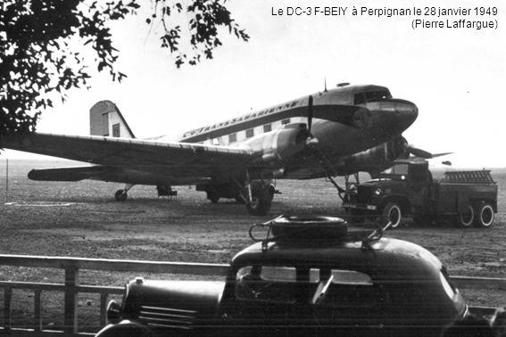 Le DC-3 F-BEIY à Perpignan le 28 janvier 1949