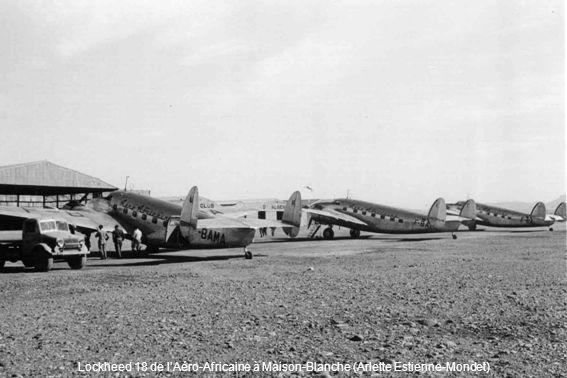 Lockheed 18 de l'Aéro-Africaine à Maison-Blanche (Arlette Estienne-Mondet)