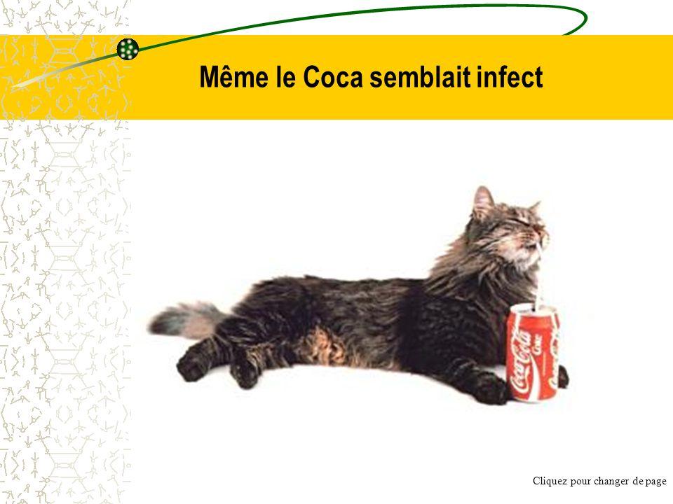 Même le Coca semblait infect
