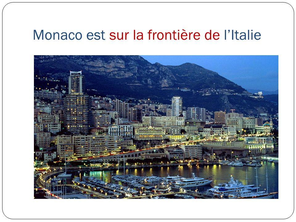 Monaco est sur la frontière de l'Italie