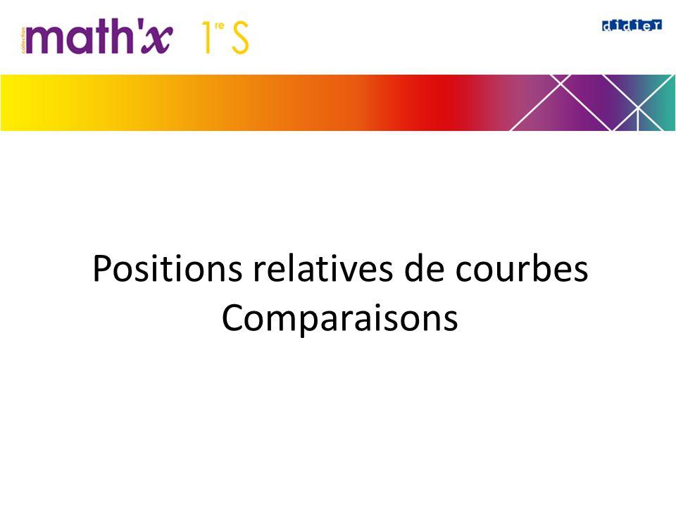 Positions relatives de courbes Comparaisons