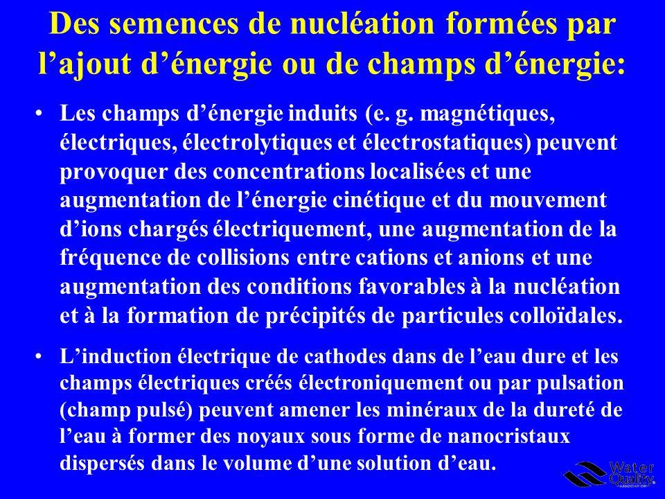 Des semences de nucléation formées par l'ajout d'énergie ou de champs d'énergie: