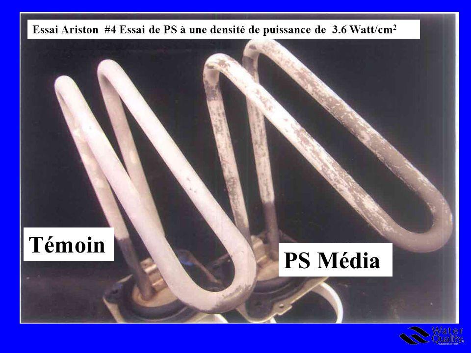 Essai Ariston #4 Essai de PS à une densité de puissance de 3