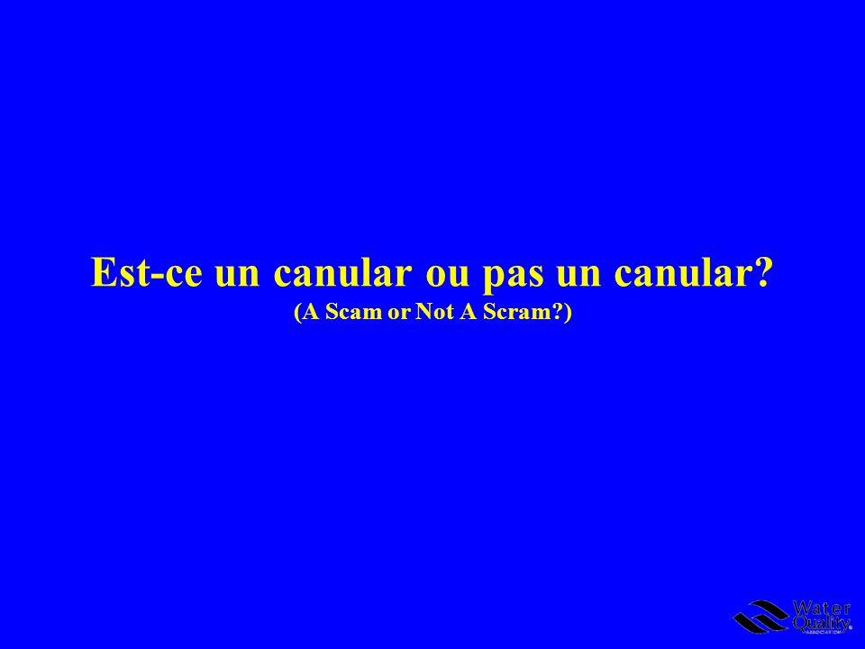 Est-ce un canular ou pas un canular (A Scam or Not A Scram )