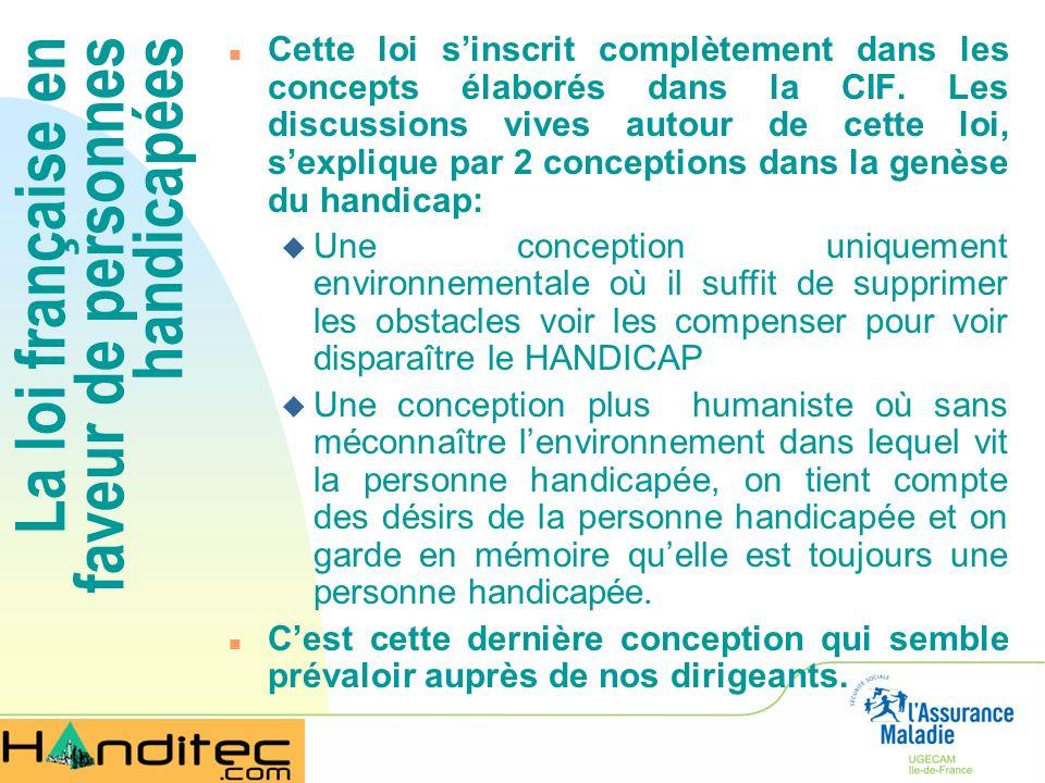 La loi française en faveur de personnes handicapées