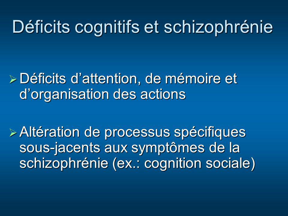 Déficits cognitifs et schizophrénie