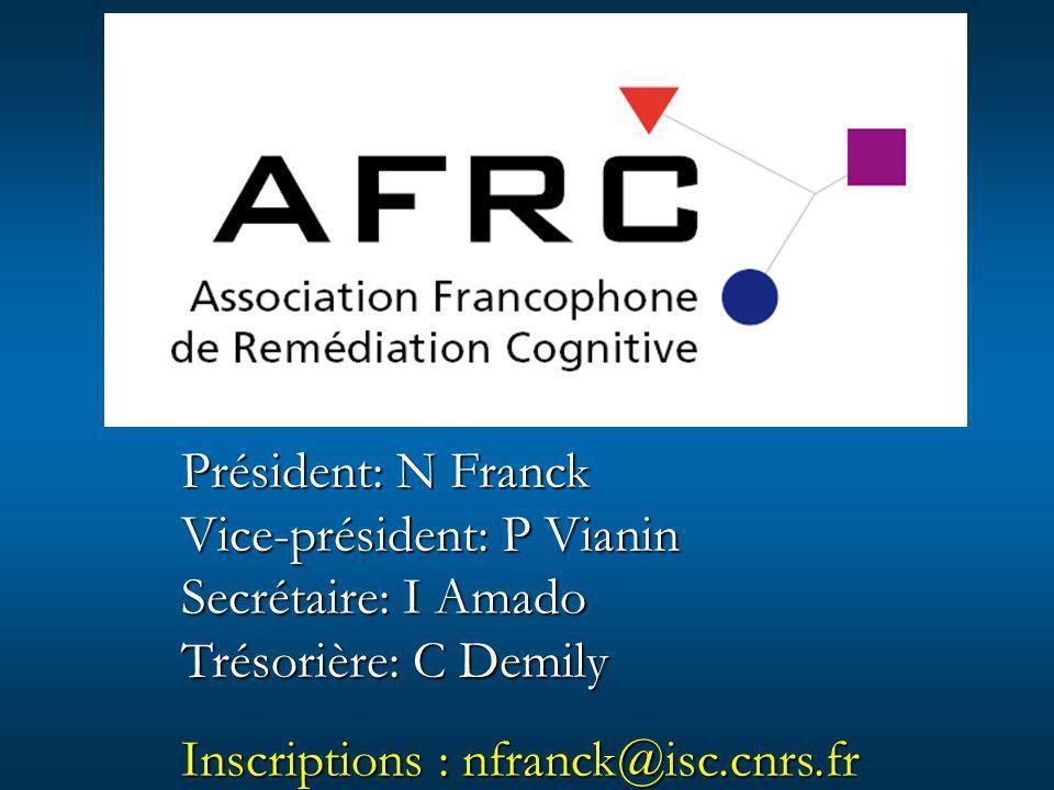 Président: N Franck Vice-président: P Vianin. Secrétaire: I Amado.