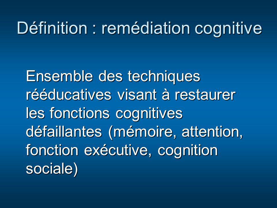 Définition : remédiation cognitive