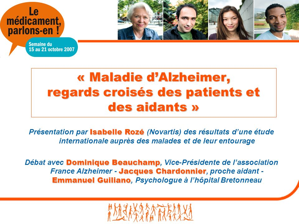 « Maladie d'Alzheimer, regards croisés des patients et des aidants »