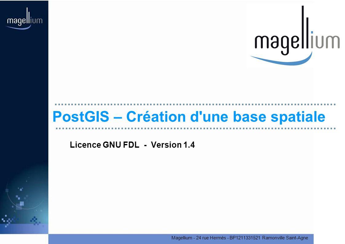 PostGIS – Création d une base spatiale