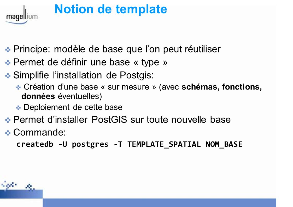 Notion de template Principe: modèle de base que l'on peut réutiliser