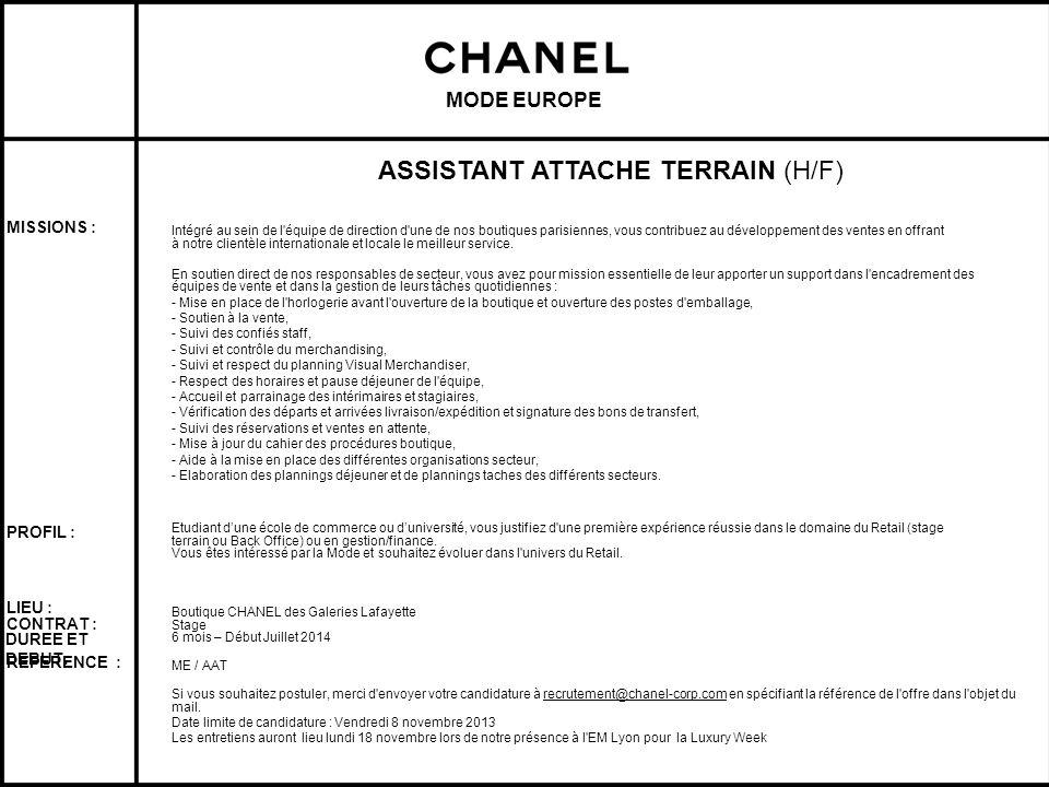 ASSISTANT ATTACHE TERRAIN (H/F)