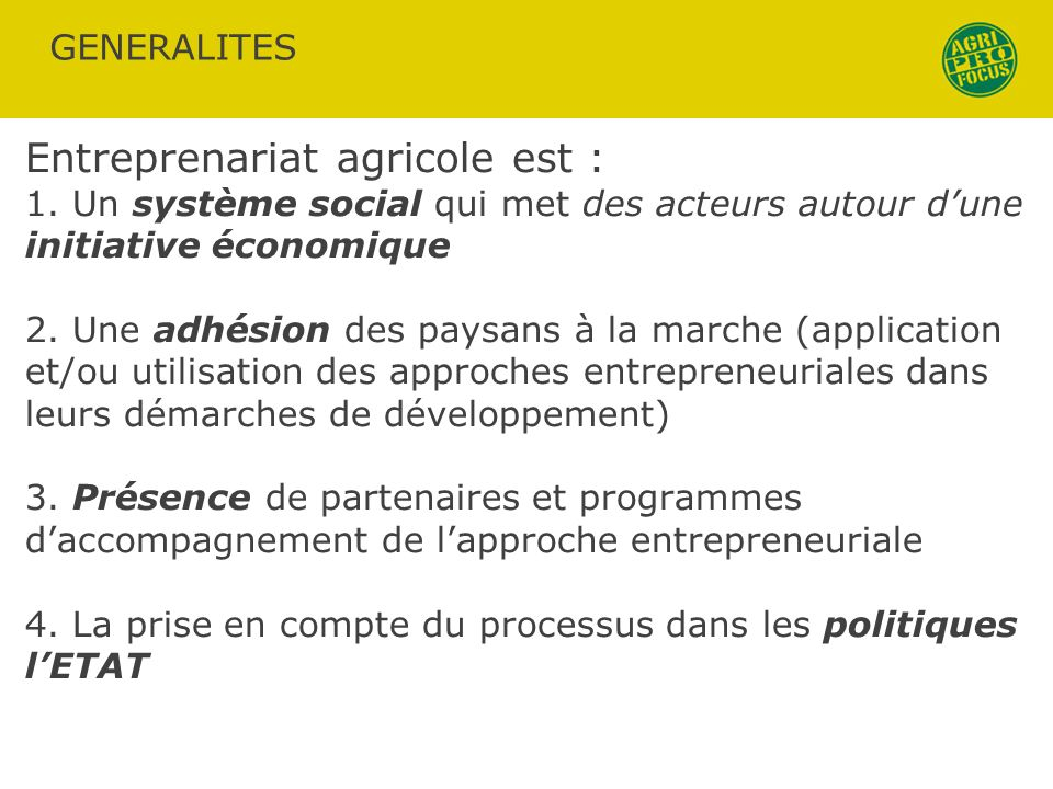 Entreprenariat agricole est :